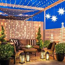 Patio Hanging Lights How To Hang String Lights In Backyard Without Trees Bright Hanging