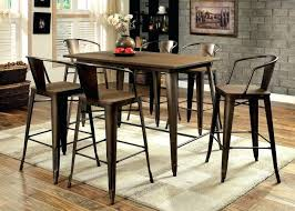 Table With 6 Chairs Dining Table Height Dining Table High Set Bar Dimensions