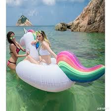 canap gonflable piscine licorne bouée gonflable géante matelas lit pour famille adultes et
