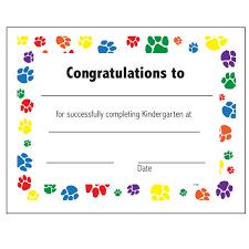 kindergarten certificates kindergarten completion certificate s