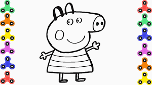 how to draw peppa pig coloring pages for kids creativity and