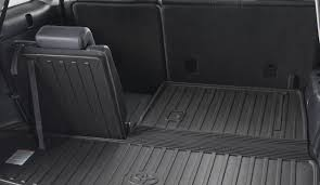 toyota sequoia cargo liner cargo loading is carefree with this liner it splits and folds