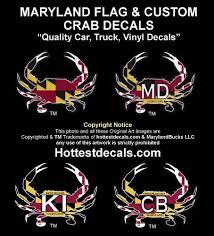 Maryland Flag Vinyl Slogan Graphics Vinyl Decals Custom Sticker 2pcs For Hyundai 1113