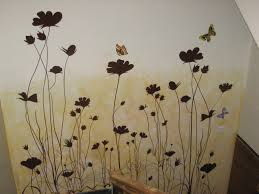 Wall Paints Design Wall Painting Design Natural Wall Painting With Butterfly