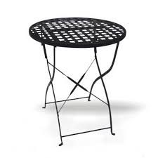 Wrought Iron Bistro Table Shop D C America Soho 23 5 In Black Wrought Iron Frame