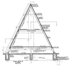 a frame house plans with loft cross section of a a frame home a frame cabin