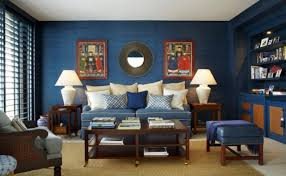 blue livingroom 26 cool brown and blue living room designs digsdigs