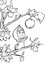 13 printable masha and the bear coloring pages print color craft