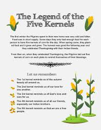 thanksgiving lesson the legend of five kernels thanksgiving