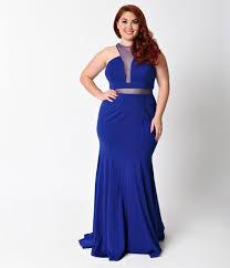 cut out dress plus size royal blue mermaid cut out dress unique vintage