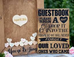 guest book alternative wedding guest book alternative heart drop guest book guest