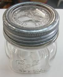 vintage ball pint special square pint wide mouth mason jar insert