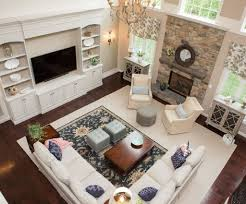 chic how to set up a living room by setting area rug with pattern