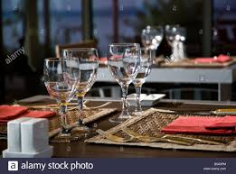 water glasses on table setting table setting wine glasses water glasses on outdoor dining terrace