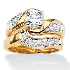 overstock bridal sets bridal sets cubic zirconia rings overstock shopping gold gold