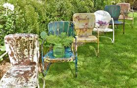 how to refresh and enjoy vintage metal lawn chairs lora b