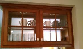 Kitchen Cabinet Glass Door by Kitchen Brown Wooden Small Cabinets With Transparent Glass Doors