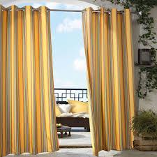 indoor outdoor curtains homesfeed yellows orange stripped indoor outdoor curtains design