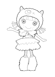 lalaloopsy doll coloring page for kids printable free furry