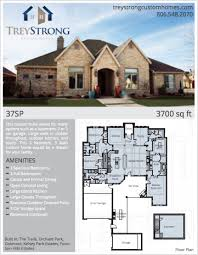 Spacious 3 Bedroom House Plans Floor Plans Trey Strong Custom Homes
