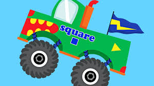 Monster Trucks Teaching Shapes Learning Basic Shapes Video For