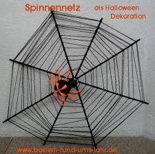 basteln rund ums jahr spinnennetz als halloween dekoration