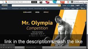 mr olympia 2016 live stream youtube