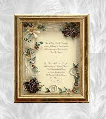 Wedding Gift Gold Framed Wedding Invitation Framed Wedding Gift Gold Wedding