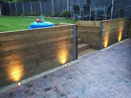 solar retaining wall lights 11 best retaining wall designs images on pinterest landscaping