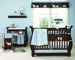Brown And Blue Bedding by Amazon Com Carter U0027s 4 Piece Crib Bedding Set Blue Elephant