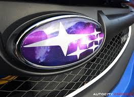 custom subaru emblem 08 10 subaru wrx hatch badge overlay limited edition galaxy