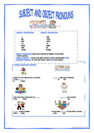 69 free esl subject pronouns worksheets