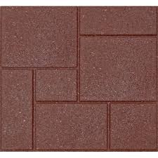 Home Depot Price Match Online by Envirotile Cobblestone 18 In X 18 In Terra Cotta Rubber Paver