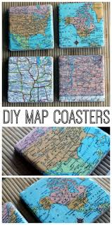 diy map coasters map coasters gift and craft