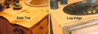 Log Vanity Pine Log Vanity Cabinets Log Home Vanity