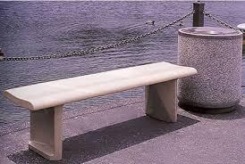 Concrete Table And Benches Contour Concrete Bench Concrete Benches Concrete Furniture