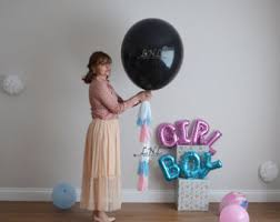 xl gender reveal balloons for boy or 36in black balloon