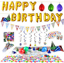 cookie party supplies joyin happy birthday party supplies set 100 pc