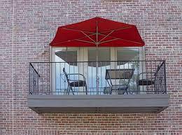 Patio Half Wall Catchy Half Patio Umbrella With Lighted Patio Umbrella Home Design