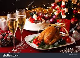 Thanksgiving Dinner Table by Christmas Themed Dinner Table Stock Photo 215935333 Shutterstock