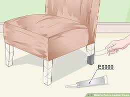 Repaint Leather Sofa 3 Ways To Paint A Leather Couch Wikihow