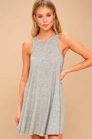 nite dress free la nite mini dress grey tank dress