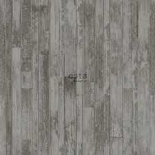 chalk printed non woven wallpaper vintage wooden planks from