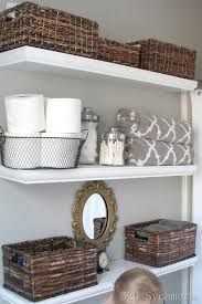 Floating Shelves For Bathroom by Best 25 Basket Bathroom Storage Ideas On Pinterest Bathroom