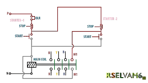 stop start wiring diagram for air compressor with 3 phase