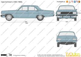 opel admiral the blueprints com vector drawing opel admiral a