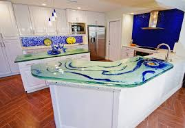 Glass Kitchen Countertops Custom Glass Kitchen Countertops Beautiful Artwork By Downing Designs