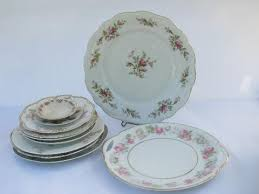 vintage china with pink roses shabby pink roses lot antique vintage china plates assorted