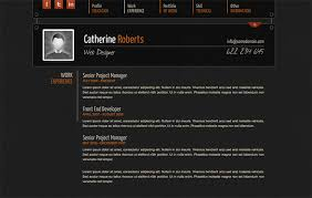 Professional Resume Online by 50 Professional Html Resume Templates Web U0026 Graphic Design