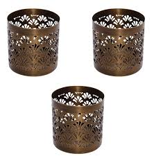 metal tea light holders insideretail metal tealight holder cut out pattern height 7 5cm